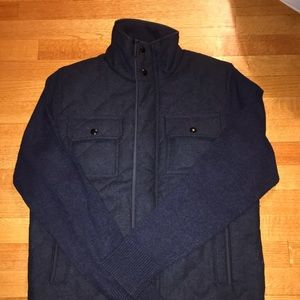 Banana Republic quilted sweater jacket: M